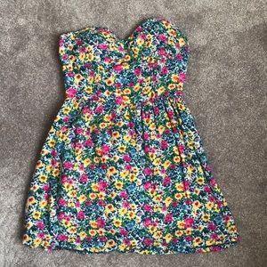 Forever 21 Floral Summer Corset Dress